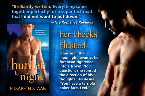 Hunter by Night cover and review quote: Brilliantly Written