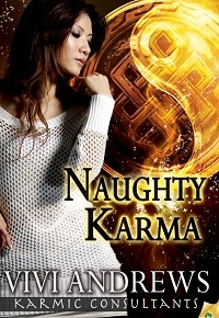 Amber's reading Naughty Karma and Riveted